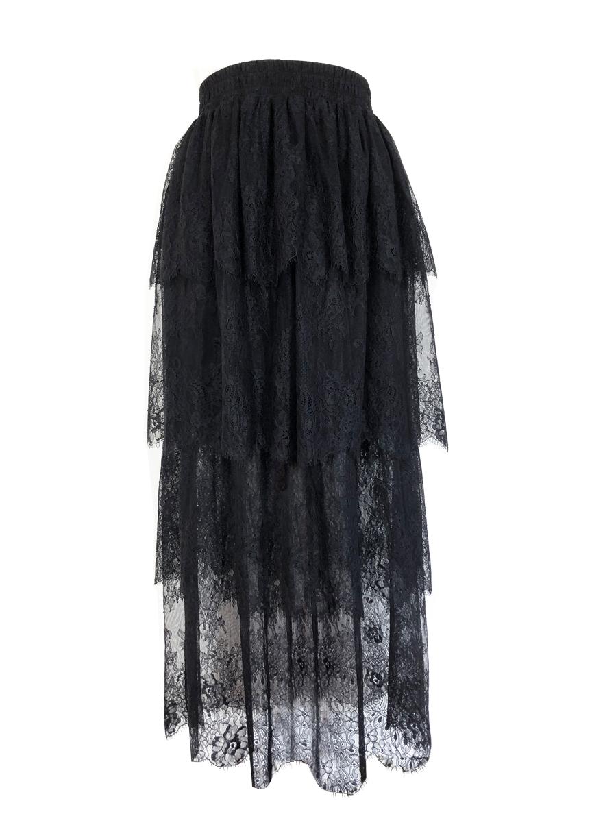 lace+skirt+black
