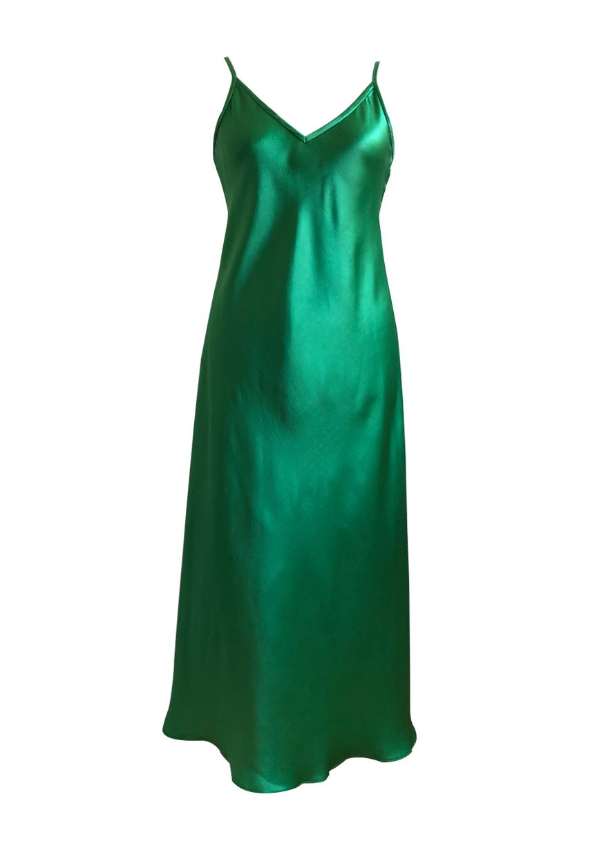 satin+dress+green+front